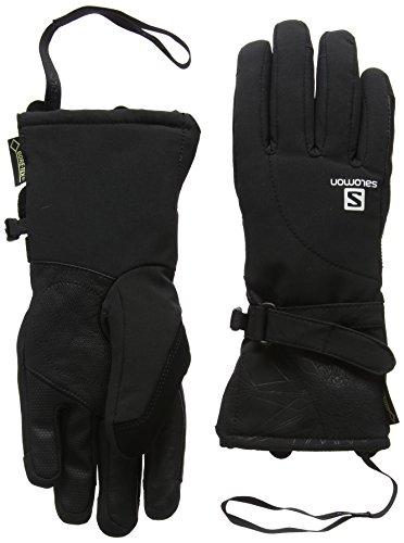 Salomon L37597300 Guanti da sci impermeabili Donna, Frontside-Skiing-Gloves, Utilizzabili con Touchscreen, Membrana GORE-TEX, Softshell, PROPELLER GTX W, Taglia: S, Nero