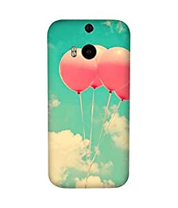 Pink Balloons HTC One M8 Case