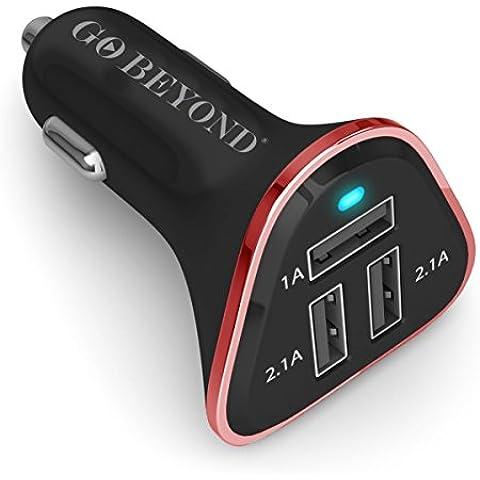 Cargador de Coche Universal, 3 puertos USB 5,2 A, 30 W, de alta velocidad - carga 3 dispositivos, con IC inteligente