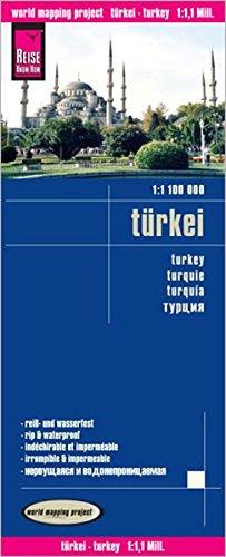 Turquía, mapa impermeable de carreteras. Escala 1:1.2.000.000 impermeable. Reise Know-How. (111m) por VV.AA.