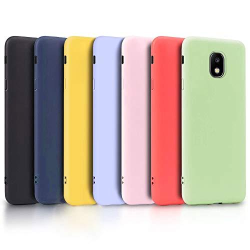 TVVT 7X Funda para Samsung Galaxy J5 2017 / J530, Ultra Delgado Color Carcasa Premium Ultraligero Suave Silicona TPU Protectora Espalda Case Cover Anti-Rasguños Anti-Choque - Siete Colores