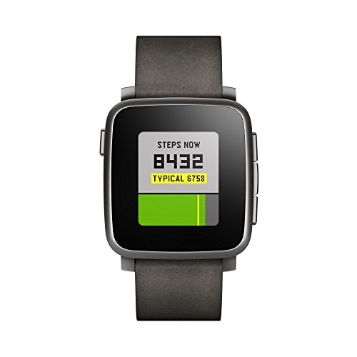 Pebble Time Steel Smartwatch – Black