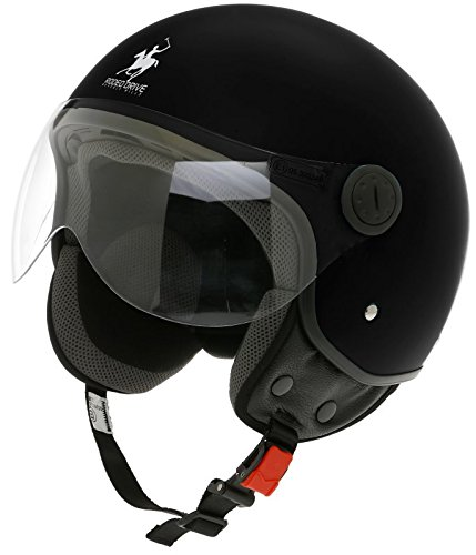 Scotland Casco Jet/D Con Funda Removible, Negro, 55-56 (S)
