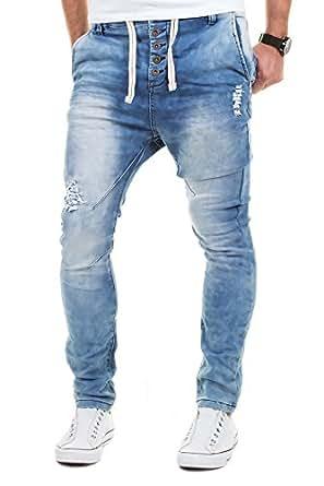 sky rebel jogg jeans hose herren sweathose jogging joggjeans chino slim fit blau w29 w38 l32 l34. Black Bedroom Furniture Sets. Home Design Ideas