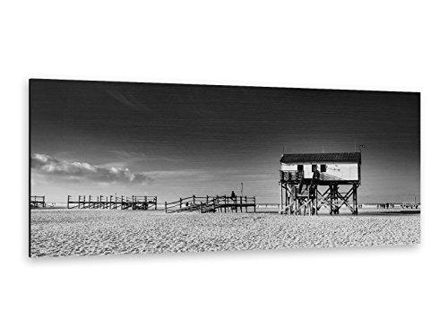 Alu-Dibond Bild ALP12502090 Haus auf Holzstelzen 125 x 50cm Butlerfinish® Edel gebürstetes Wandbild, Metall effekt Eyecatcher!