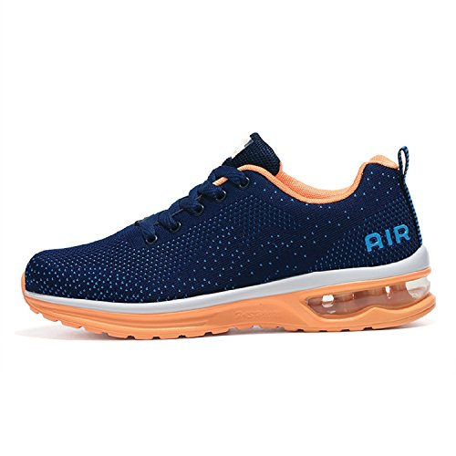 Tqgold uomo donna scarpe da ginnastica corsa sportive running sneakers fitness interior casual all'aperto(eu 41,blu)