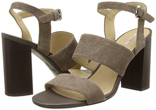 Geox Damen D Audalies High Sandalo A Knöchelriemchen, Beige (TAUPEC6029), 39 EU -