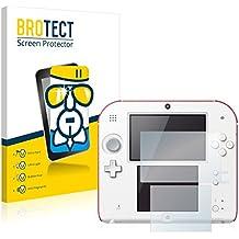 BROTECT AirGlass Protector Pantalla Cristal Flexible Transparente para Nintendo 2DS Protector Cristal Vidrio - Extra-Duro, Ultra-Ligero, Ultra-Claro