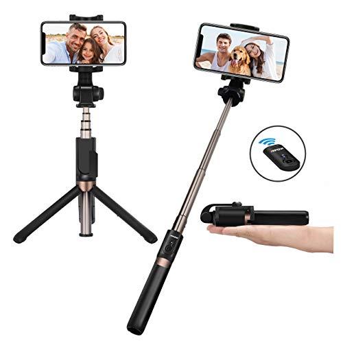 Mpow Bluetooth Selfie Stick Stativ, all in 1 Stativ Selfie Stab Stange mit Bluetooth Fernsteuerung und Abnehmbares 360°Rotation für iPhone 11/XS Max X 8 7 6, P30/P20/P10, Galaxy S10 S10+ S9 S8, etc