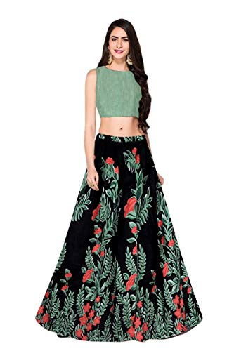 Salwar Style Women\'s Satin Satin Lehenga Choli (Red)
