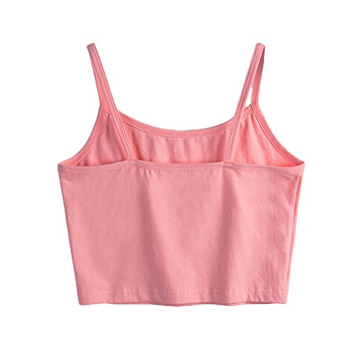SUNDAY ROSE Damen Pullunder, Einfarbig Cami Pink