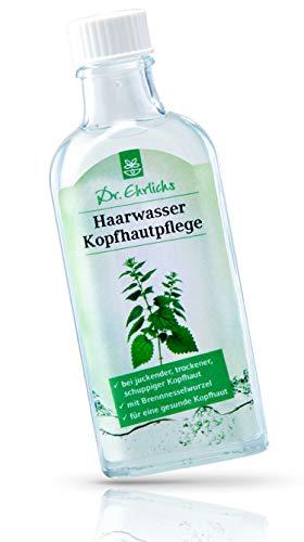 Dr. Ehrlichs Haarwasser Kopfhautpflege 100ml - Tonikum mit Brennessel für juckende trockene Kopfhaut - Natürliche Inhaltsstoffe - auch bei Schuppen mit Brennesselwurzel für empfindliche Haut -