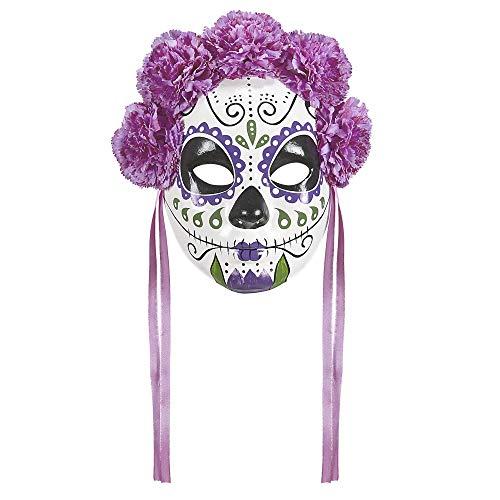 Widmann 04786 Maske Dia de los Muertos, Mehrfarbig, Einheitsgröße