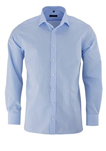 Eterna Herren Hemd Modern Fit Extralange Ärmel Hellblau