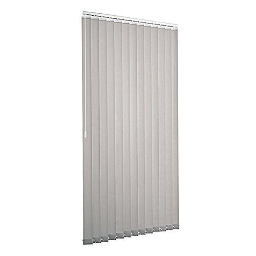 VENTANARA® Lamellenvorhang 125 x 180 cm grau Ventanara Vertikaljalousie 89mm inkl. Montagematerial