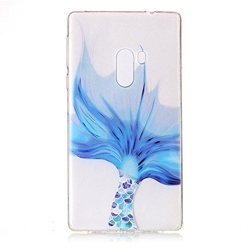 BONROY® Silikon Handy hülle für Xiaomi Mi Mix TPU Gummi Taschen Weich Soft Back cover,Ultra Slim Skin TPU Fall-Abdeckung Protective Bumper für Xiaomi Mi Mix