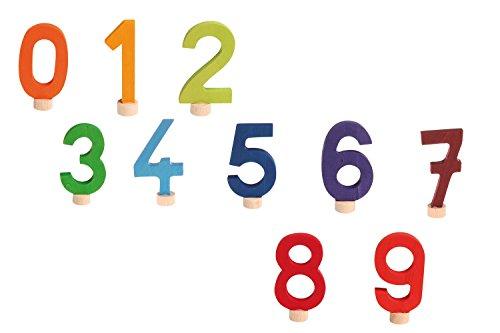 Preisvergleich Produktbild Stecker Zahlen Set 0-9, Grimm's