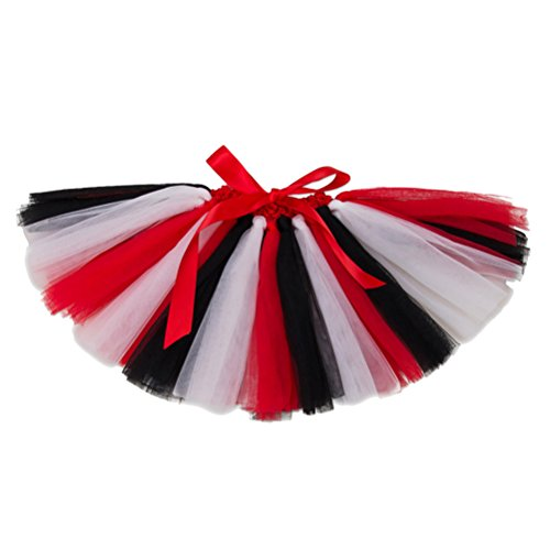 (Zhhlinyuan Kids Baby Girls Multi-layers tulle Dance Tutus Skirt Multi-color Stripes Party Princess Pettiskirts)