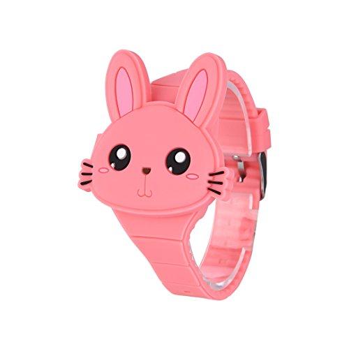Reloj Infantil Digital Electrónico Niña Chica de Silicona de Moda Dibujos Animados Animal LED Pantalla...