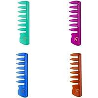 B Blesiya 4 Piezas Pincel de Pelo Rizado Cepillo de Plástico Peine Desenredar Cabello Masajeador Resistente al.