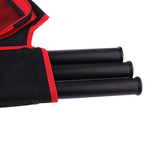 Gazechimp 3-Röhrenköcher Rückenköcher Bogenschießen Sport Rot