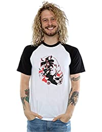 Marvel hombre Daredevil Layered Faces Camiseta del béisbol