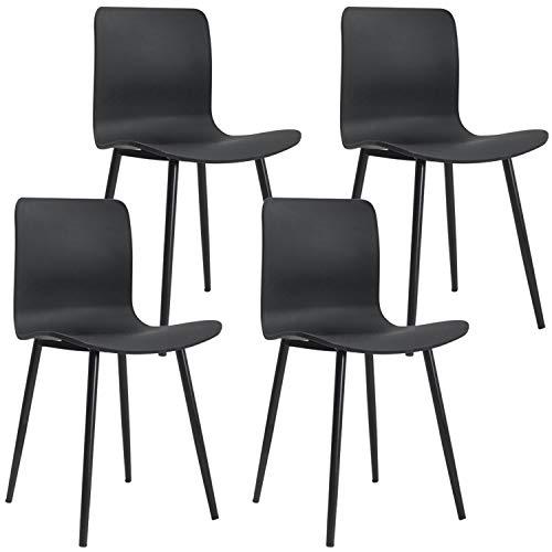 Nicemoods 4 Elegantes sillas de Comedor atemporales con pies de plástico estables...