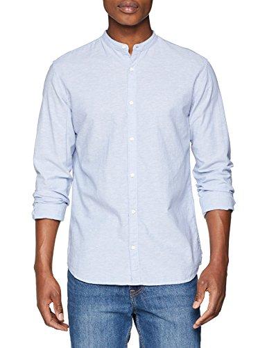Jack & jones premium jprsummer mao shirt l/s sts, camicia formale uomo, blu (infinity fit:slim fit), xx-large
