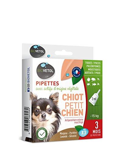 Biovetol - Pipettes Anti-puce pour chiot et petit chien...