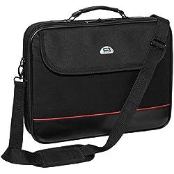 """PEDEA Housse pour ordinateur portable """"Trendline"""" Étui pour ordinateur portable jusqu'à 17,3 pouces (43,9 cm) Sacoche à bandoulière, noir"""