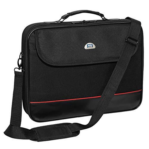 """PEDEA Laptoptasche """"Trendline"""" Umhängetasche Messenger Bag 17,3 Zoll (43,9 cm) mit Zubehörfach und Schultergurt, schwarz"""