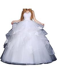 Gorgeous Bride - Vestido - para mujer Blanco blanco