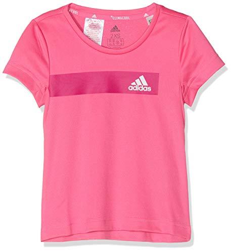 adidas Mädchen Training Cool T-Shirt, Semi Solar Pink/White, 164 Angel Pink Sweatshirt