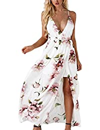 HOMEBABY Boemia Chiffon Abiti Lunghi Donna Eleganti - Vintage Estivi Vestiti  Casual Donna - Maxi Abito b629ad80fba