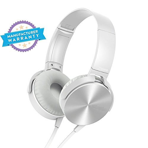 AKSHAYAA MDR-XB450 On-Ear EXTRA BASS Headphone compatible for Sony (White)  available at amazon for Rs.599