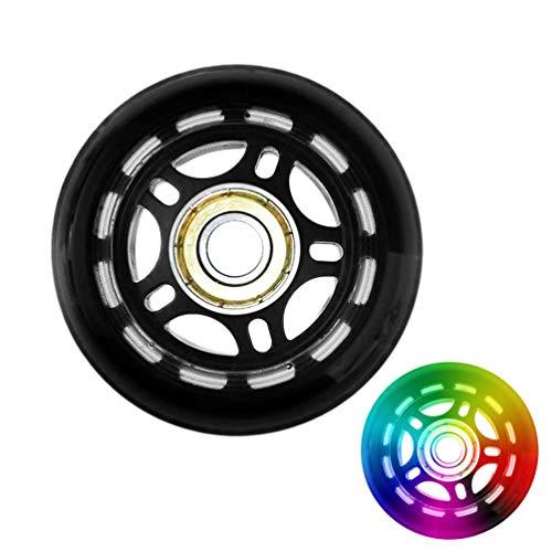 Inline Skate Wheels Skating Ersatz-Roller Skating Wheels Wear Resistant Anti-Rutsch-Dämpfer 70Mm Bearing Skateboard Zubehör - Schwarz