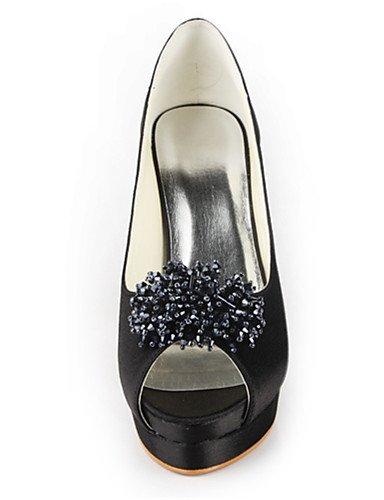 WSS 2016 Chaussures de mariage-Noir / Bleu / Jaune / Rose / Violet / Rouge / Blanc / Argent / Or / Beige / Amande-Mariage / Habillé / Soirée & 4in-4 3/4in-yellow