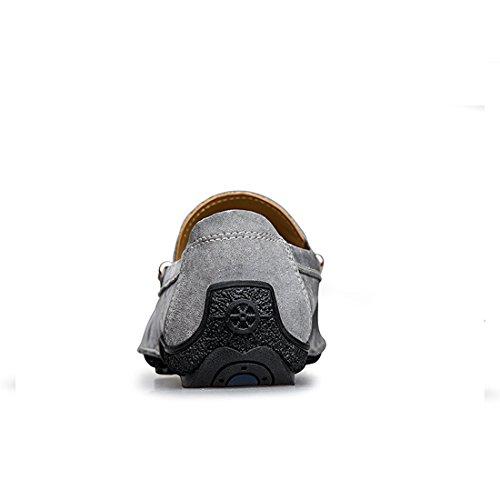 Minitoo LHUS-LH1666, Mocassins Pour Homme Gris