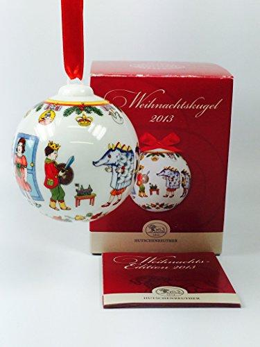 Hutschenreuther Porzellan Weihnachtskugel 2013 in der Originalverpackung (Die Verpackung ist beschädigt) NEU 1.Wahl