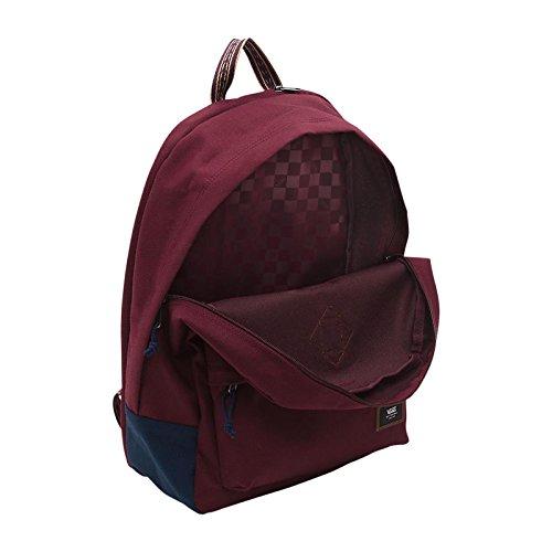 Imagen de vans old skool plus backpack  tipo casual, 44 cm, 23 liters, rojo port royale/dress blues  alternativa