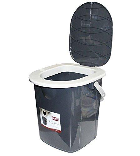 faltbare toilette Branq Reise WC Campingtoilette, Grau, M