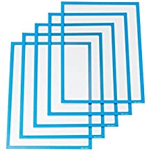 Ultradex 889007 Infotasche magnetisch für DIN A4, 5-er Packung, 312 x 225 mm, blau