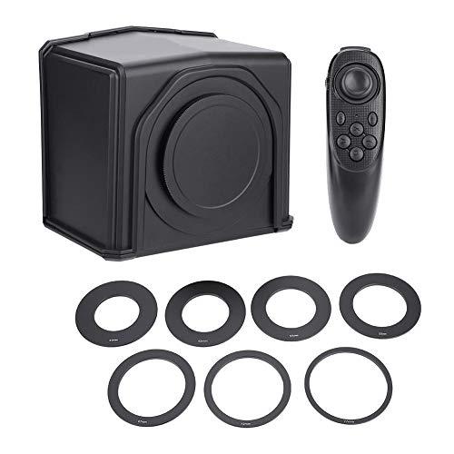 VBESTLIFE Telefon-Teleprompter mit 8 Adapterringen-Kit für Interview,Sprache, TV-Show Teleprompter-kit