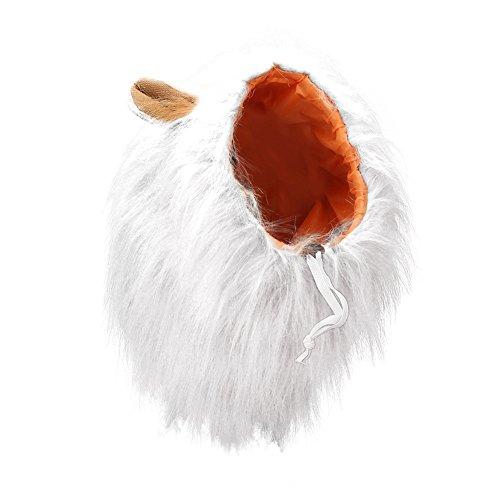 Vivifying Hundekostüm Löwenmähne, Verstellbar Hunde Perücke mit Ohren für Mittlere und Große Hunde ()