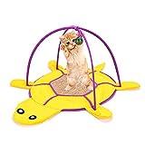 KGAQ Cat Toy lettiera Sisal Pad Pet Temperino Retrattile Campana Palla Divertente Cat Sfera Multi-Purpose Combinazione Creativa