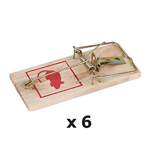 REVIMPORT - Tapettes à souris x 6 , pièges en bois et métal .