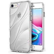 Cover iPhone 8, Ringke Flow [Clear] Minimalista ondulato strutturata Assorbimento Shock TPU Forma leggera Goccia Protezione resistente Protezione trasparente Custodia per Apple iPhone8 - Chiaro