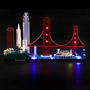 LIGHTAILING Set di Luci per (Architecture San Francisco) Modello da Costruire - Kit Luce LED Compatibile con Lego 21043…  LEGO