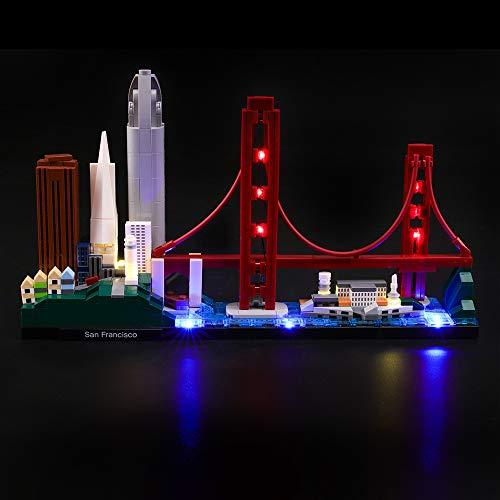 LIGHTAILING Conjunto de Luces (Architecture San Francisco) Modelo de Construcción de Bloques - Kit de luz LED Compatible con Lego 21043 (NO Incluido en el Modelo)
