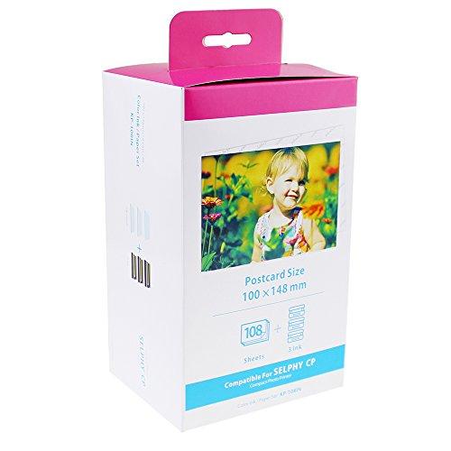 Preisvergleich Produktbild coLorty KP-108IN 3 x Tinte und 108 Papier Kompatibel mit Canon Selphy CP Fotodrucker Serie Druckerkartusche 100 x 148mm Postkartengröße CP780 CP790 CP800 CP810 CP800 CP900 CP910 CP1000 CP1200 CP1300